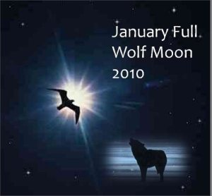 2010 Full Wolf Moon and Mars