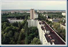 Chernobyl-Pripyat town-25 years on-forested