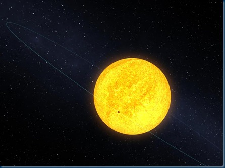 Kelper 10 orbiting its host star