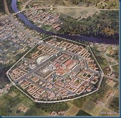 The walled town of Aquae Sulis