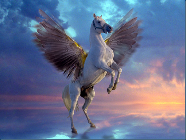 Pegasus the winged horse of myth and legend