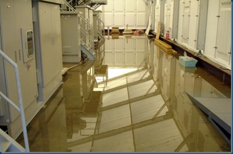 <p>This handout picture, taken by Tokyo Electric Power Co (TEPCO) shows radioactive water on the floor inside the building of a water treatment facility at TEPCO's Fukushima Daiichi nuclear plant.</p>