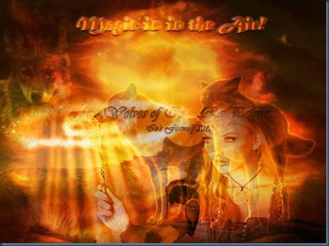 Solar City Magic_Space Art Fire Wolf