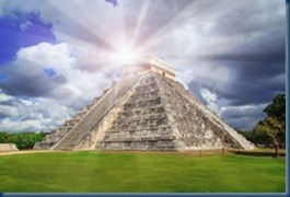Mayan Temple and Sunbeam
