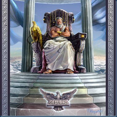 Zeus–god of the Olympics and Supreme Ruler of Mt Olympus (1/6)