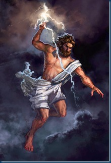 Zeus–god of the Olympics and Supreme Ruler of Mt Olympus (4/6)