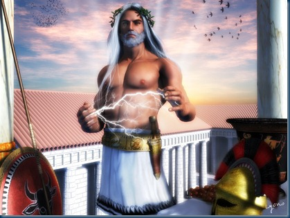 Zeus–god of the Olympics and Supreme Ruler of Mt Olympus (2/6)