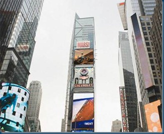 Curiosity visits Times Square USA!_Image Credit: news.discovery.com