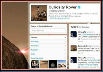 Follow Curiosity Rover on Twitter!