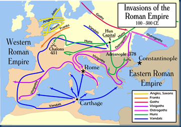 Barbarian Invasions_of_the_Roman_Empire Credit Wikipedia.org