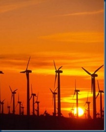a-california-wind-farm-at-sunset-according-to-a-new-study-nighttime-temps-in-the-air-above-wind