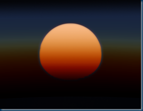 Sunset on HD 189733 b