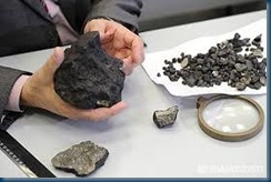 Fragments of the Chelyabinsk meteorite