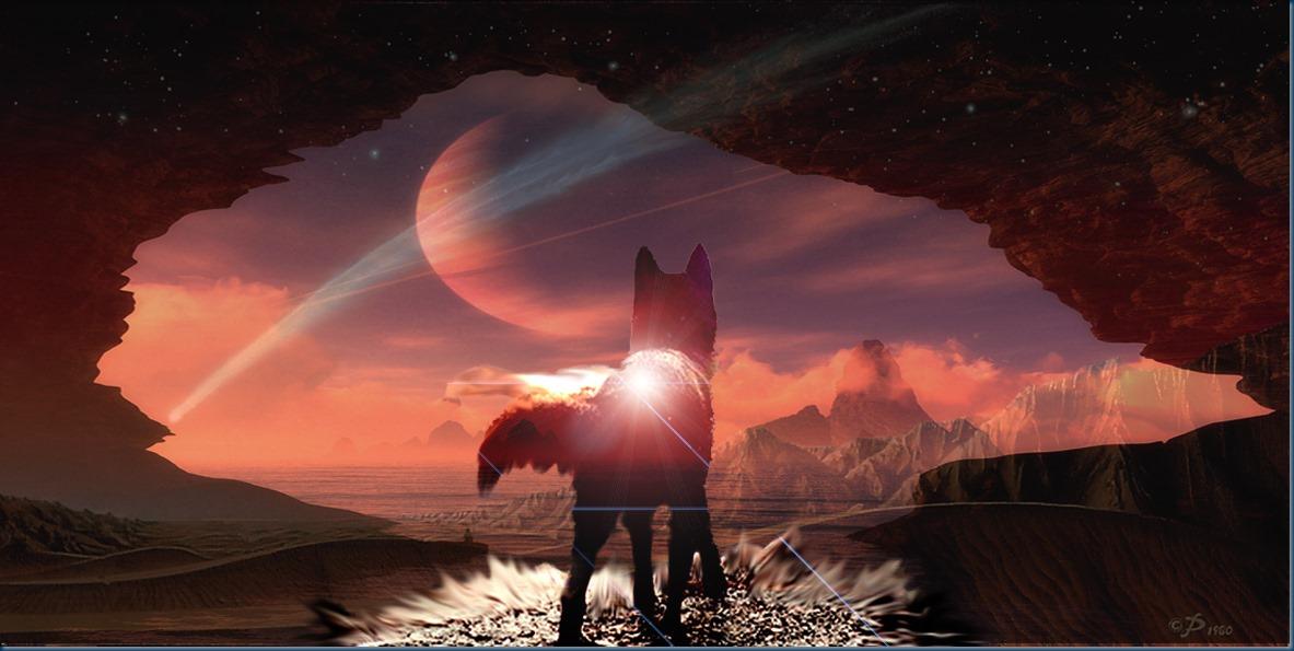 Black wolf of Mars A_Image: Europa's Icewolf