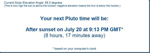 Next Pluto time