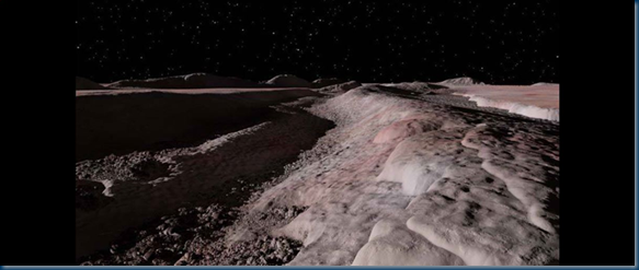 View from Pluto's Sputnik Planum by Ron Miller