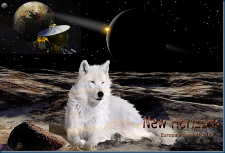 Icewolf soaking up the Plutonian atmosphere