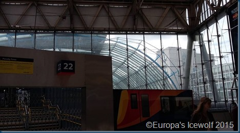 The annoyingly inaccessible Eurostar entrance!