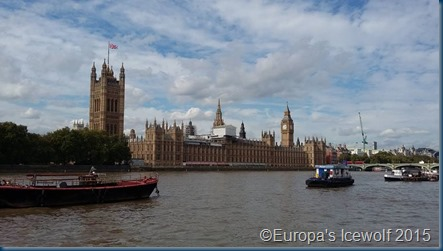 Houses of Parliament across the Thames River